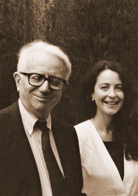 Con Enzo Biagi