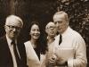 Con Enzo Biagi, Ives Montand e Luciano Arancio