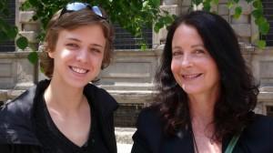 Milan, spring 2009, Vera Politkovskaja with Marina Gersony. Photo credit: Chiara Barlassina